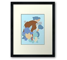 Squirtle Evolution Framed Print