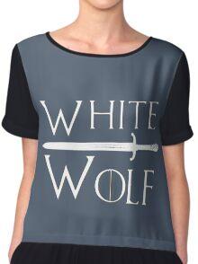 White Wolf Chiffon Top