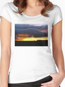 Minera Sunset 2 Women's Fitted Scoop T-Shirt