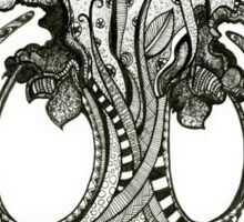 The Hippie Tree, Pen & Ink Drawing Sticker