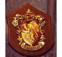 Gryffindor house plaque Photographic Print