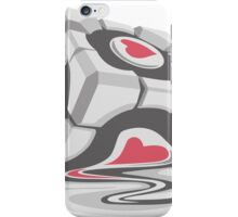 The melting Companion Cube from Portal iPhone Case/Skin