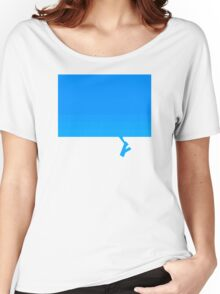 Blue Women's Relaxed Fit T-Shirt