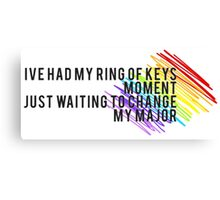 Fun Home - I've Had my Ring... Canvas Print
