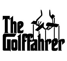 The Golffahrer VW Fun Parody Photographic Print