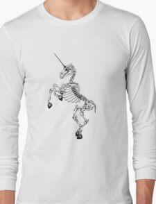 Unicorn Skeleton Long Sleeve T-Shirt