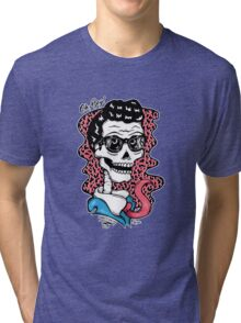 Buddy Holly Skull Tri-blend T-Shirt