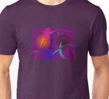 Festival Lanterns in a Purple Night Sky Unisex T-Shirt