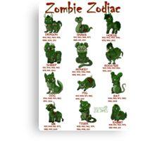 Zombie Zodiac Canvas Print