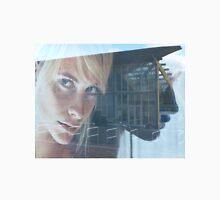 blond girl on advertisement Unisex T-Shirt