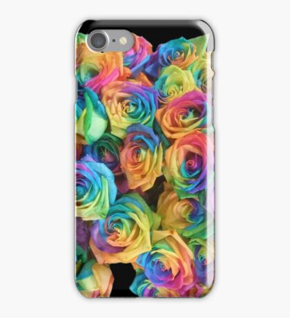 ROSES, ROSE, Rainbow, Bunch, Flowers, Colour, Colourful iPhone Case/Skin