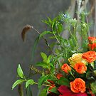 The bridal  floral arrangements on canvas bg2 by Anton Oparin
