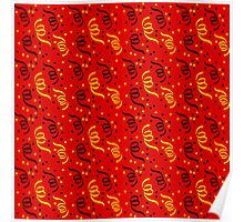 Black Red and Gold Germany National Colored Party Streamers Poster