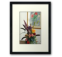 The bridal  floral arrangements on canvas bg4 Framed Print