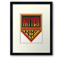 KITTEN ARMY Framed Print