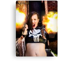 Ash Smashem Punisher Canvas Print