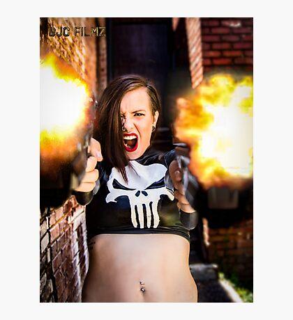 Ash Smashem Punisher Photographic Print