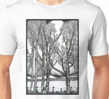 Farm Trees, An Ink Drawing Unisex T-Shirt
