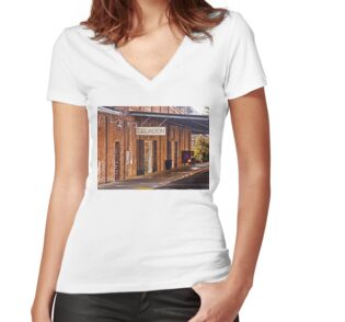 Women's Fitted V-Neck T-Shirt