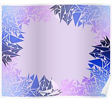 Géométrie bleutée Poster