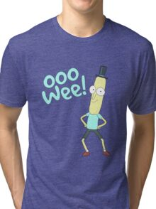 Mr pooptbutthole- Rick and Morty Tri-blend T-Shirt
