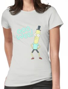 Mr pooptbutthole- Rick and Morty Womens Fitted T-Shirt
