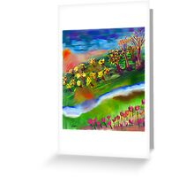 Whimsical Sunset by Roger Pickar, Goofy America Greeting Card