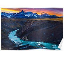 Dark River Canyon Poster