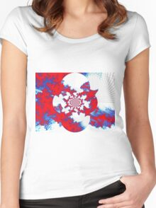 PATRIOTIC FRACTAL Women's Fitted Scoop T-Shirt