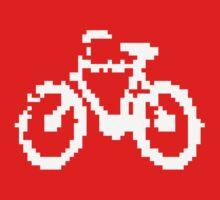 1 bit pixel bike (white) One Piece - Long Sleeve