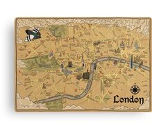 Map of London - Tolkien Inspired  Canvas Print