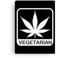 funny vegetarian Canvas Print