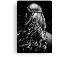 Wedding Curls Canvas Print