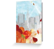 New York in the Autumn Greeting Card