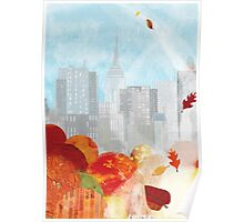 New York in the Autumn Poster