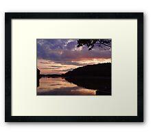 Night fall at the lake Framed Print