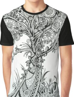 Elegance,  Ink Tree Drawing Graphic T-Shirt