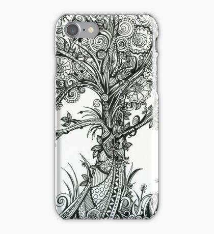 Elegance,  Ink Tree Drawing iPhone Case/Skin