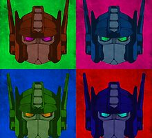 Optimus Prime - 4 Pop Art images by Colin Bradley