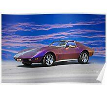 C3 Corvette T Top Stingray Poster