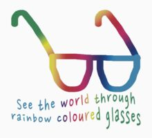 See the world through rainbow coloured glasses One Piece - Short Sleeve