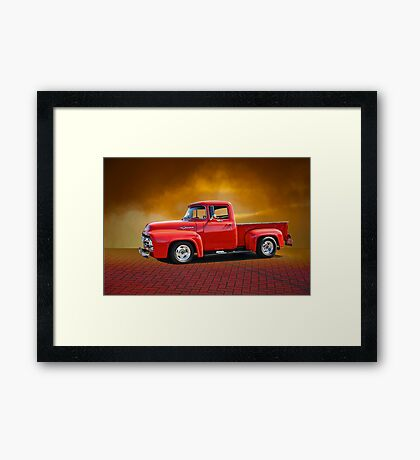 1956 Ford F100 Stepside III Framed Print