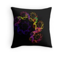 Spiral Rainbow Throw Pillow