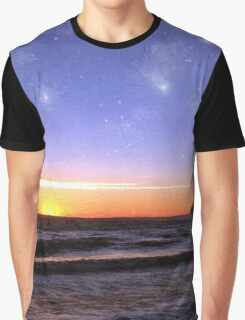 Star-Spangled Sunset Graphic T-Shirt