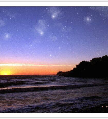 Star-Spangled Sunset Sticker