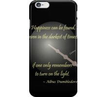 Harry Potter Happiness Quote iPhone Case/Skin