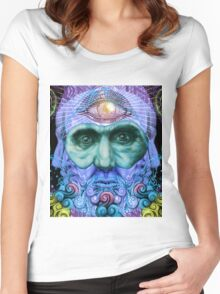 PSYCHEDELIC Old men Women's Fitted Scoop T-Shirt