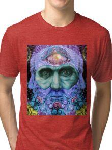 PSYCHEDELIC Old men Tri-blend T-Shirt