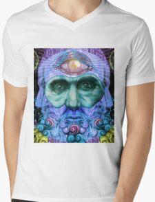 PSYCHEDELIC Old men Mens V-Neck T-Shirt