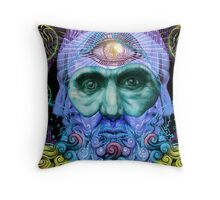 PSYCHEDELIC Old men Throw Pillow